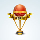 Golden trophy for Cricket. Royalty Free Stock Photos