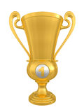 Golden trophy cup Stock Image