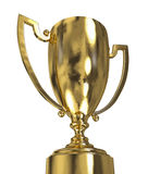 Golden trophy cup Royalty Free Stock Photos