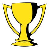 Golden trophy cup icon, icon cartoon Stock Image