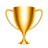 Golden Trophy Cup Icon Stock Image