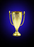 Golden trophy cup Royalty Free Stock Photo