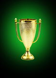 Golden trophy cup Stock Photography