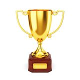 Golden trophy cup Royalty Free Stock Image
