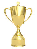 Golden Trophy Cup On White Royalty Free Stock Photos