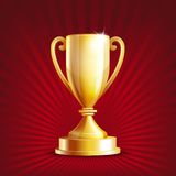Golden trophy cup vector illustration
