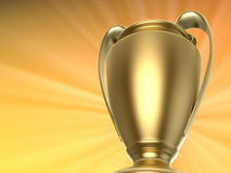Golden trophy - first place Stock Photography