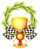A golden trophy Stock Photography