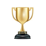 Golden trophy isolated on white Royalty Free Stock Images