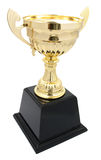 golden trophy isolated Stock Photography