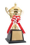 golden trophy isolated Royalty Free Stock Photos