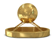 Golden trophy with stadium Stock Photography