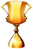 Golden trophy on white Royalty Free Stock Photo
