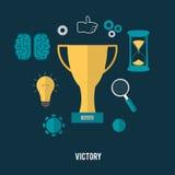 Golden trophy winner cup Stock Images