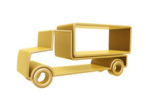 Golden truck curve. Isolated on white background Stock Photo