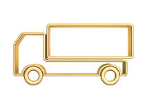 Golden truck curve. Isolated on white background Royalty Free Stock Images