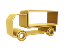 Golden truck curve. Isolated on white background Stock Photos
