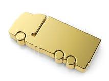 Golden truck symbol Stock Image