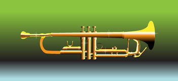 Golden trumpet Stock Images
