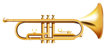A golden trumpet royalty free illustration