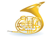 Golden tuba Stock Images