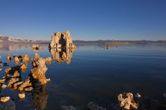 Golden Tufa Rocks Royalty Free Stock Photography