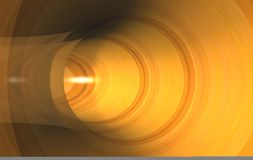 Golden tunnel background Royalty Free Stock Images