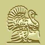 Golden Turkey Plate Royalty Free Stock Image