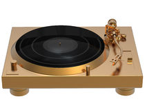 Golden turntable Royalty Free Stock Photos