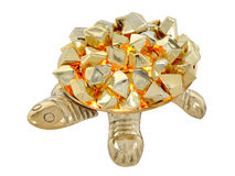 Golden turtle. Gold turtle. Molten gold. Decoration from India Royalty Free Stock Photo