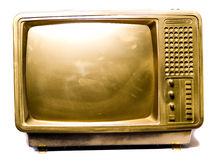 Golden TV-set Stock Photo