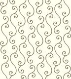 Golden twigs pattern. Golden twigs. Seamless vector pattern Royalty Free Stock Images