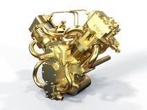 Golden twin engine Stock Image