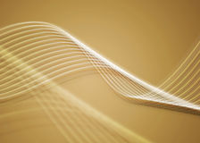 Golden twirls. Digitally created background with white crisp lines on a golden backdrop Royalty Free Stock Image