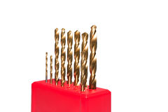 Golden twist drill bit Royalty Free Stock Photo