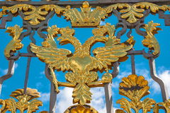 Golden two-headed eagle Stock Images
