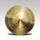 Golden ubiq coin isolated on white background 3d rendering. Illustration Royalty Free Stock Images