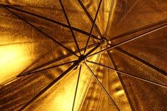 Golden umbrella Royalty Free Stock Photography