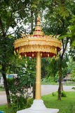 Golden umbrella in buddhist temple in Chiang Mai,. Golden umbrella in buddhist temple in Chiang Mai Stock Photos