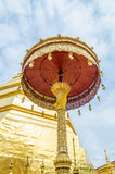 Golden umbrella at Wat Phra That Cho Hae Stock Images