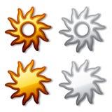 Golden und schattiert der Sonne Lizenzfreies Stockbild