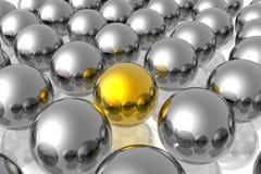 Golden unique sphere Stock Photography