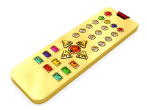 Golden universal remote control Royalty Free Stock Photos