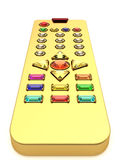 Golden universal remote control Stock Photography