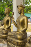 Golden Upagupta statue, Thai Buddhist monk Royalty Free Stock Photography