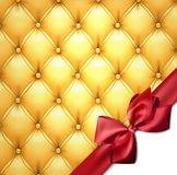 Golden upholstery leather pattern background. Royalty Free Stock Photography