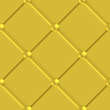 Golden upholstery pattern seamless Royalty Free Stock Photography