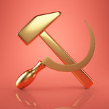 Golden USSR emblem Royalty Free Stock Photos