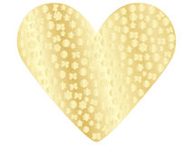 Golden valentine Royalty Free Stock Photography