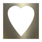 Golden Valentine Frame Royalty Free Stock Image